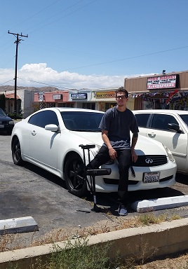 Aaron with car