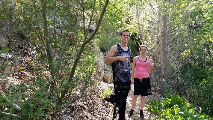 Aaron Hiking